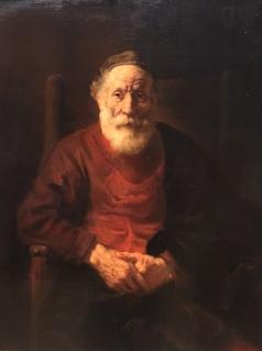 Joodse man door Rembrandt 1654