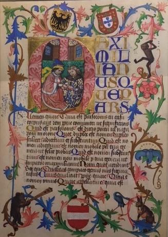 Lesboek Maximiliaan van Oostenrijk Bibl Wenen