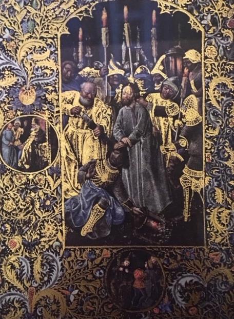 Lood-goud illustratie boekwerk 15e eeuw Vlaanderen