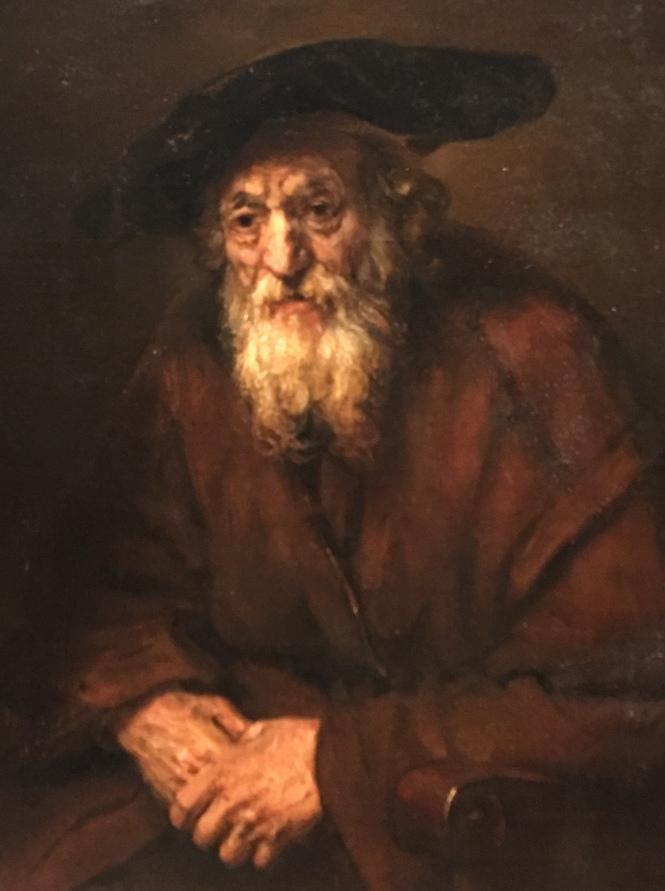 Oude Joodse man door Rembranc=dt 1654